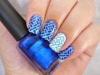 Blue and white nail art   OrdinaryMisfit