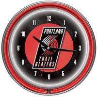 NBA-Portland-Trail-Blazers-Chrome-Double-Ring-Neon-Clock-14-0