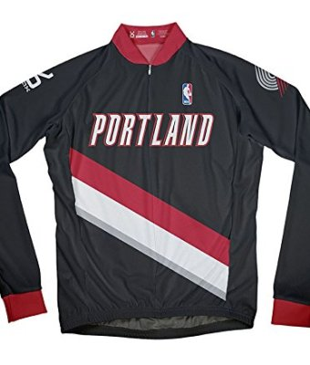 NBA-Portland-Trail-Blazers-Mens-Long-Sleeve-Away-Cycling-Jersey-0