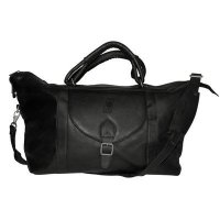 NBA-Portland-Trailblazers-Black-Leather-Top-Zip-Travel-Bag-0