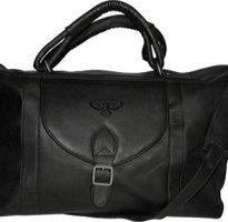 NBA-Tan-Leather-Top-Zip-Travel-Bag-0