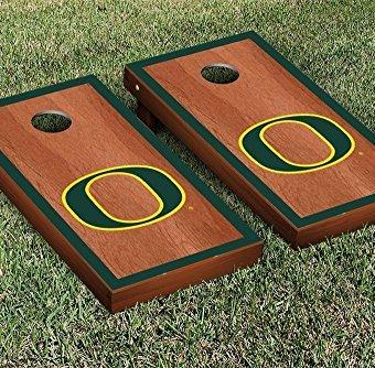 Oregon-Ducks-Cornhole-Game-Set-Rosewood-Border-Version-0