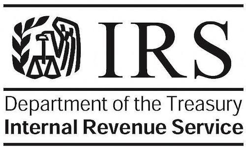 Department of the Treasury Internal Revenue Service IRS Logo