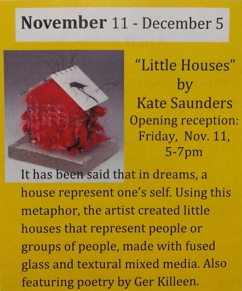 Little Houses by Kate Saunders November 2016