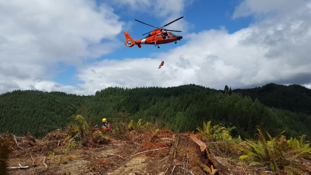 Coast Guard Rescues Logger