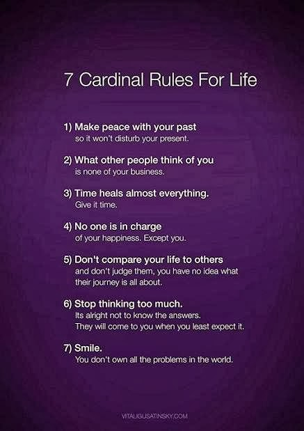 Seven rules for life