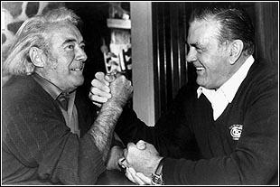 Félix Leclerc et Maurice Richard, 1983