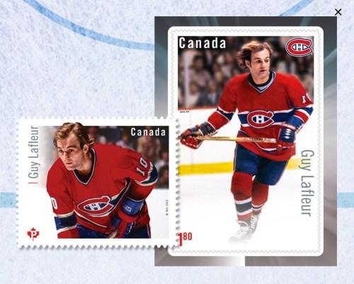 Guy Lafleur, série de tombres-poste «Les héros du hockey», 2016