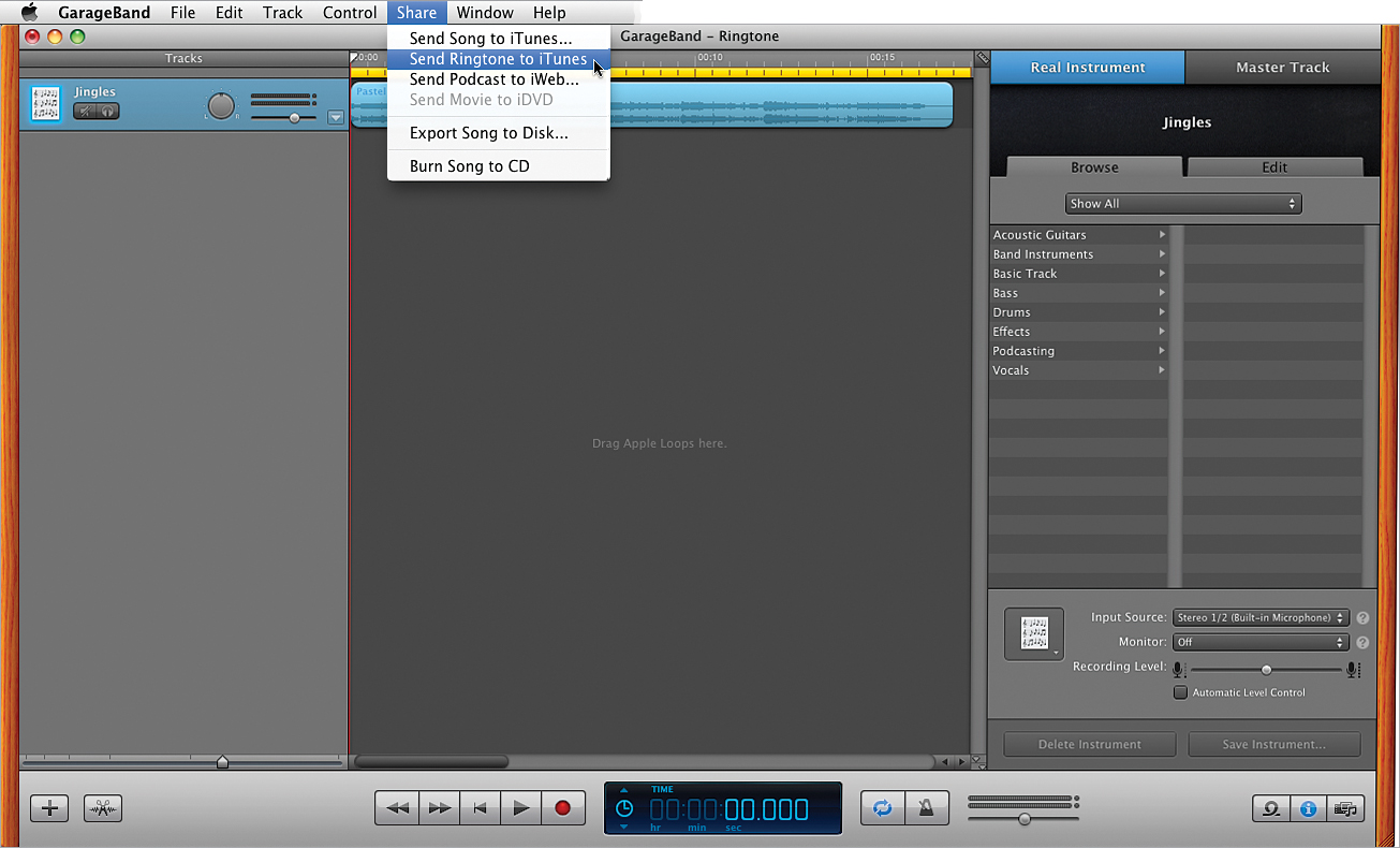 Garageband Loops Create Your Own Ringtones Or Text Tones With Garageband The