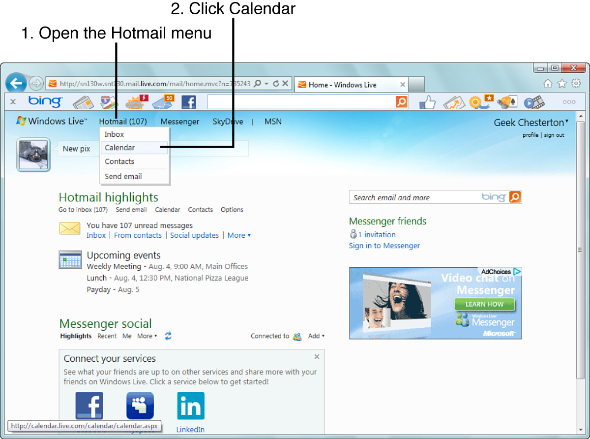 Messenger Hotmail 10 Organizing Your Life With Windows Live Calendar Using