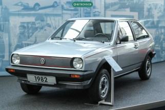 Polo II GTi, com os detalhes vermelhos na grade, característico dos esportivos da Volks