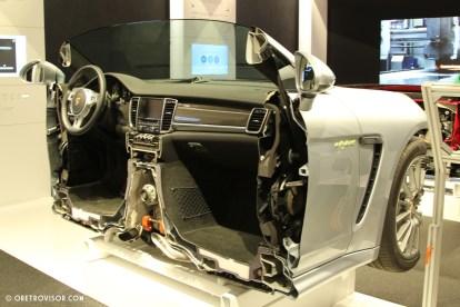 Parte da dianteira de um Porsche