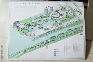 O mapa do parque
