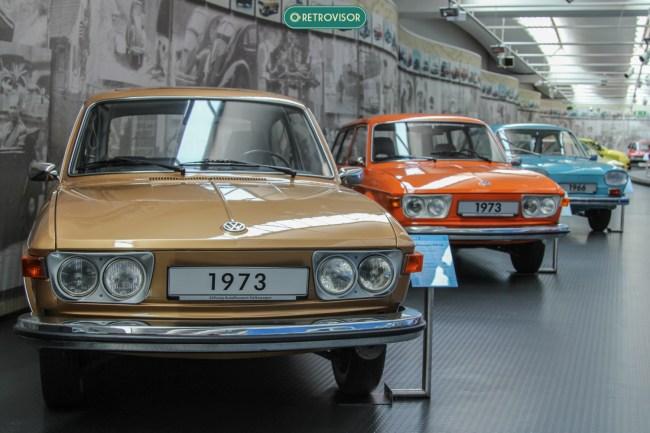 Os 3 exemplares do Type 4 no museu. Um de cada carroceria