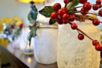 DIY Snow Covered Mason Jar Candle Holders   Organic Deal Diva