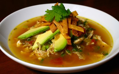 Organic vegan Tortilla soup