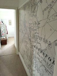 Map wallpaper - perfect for a feature wall or decorating a ...