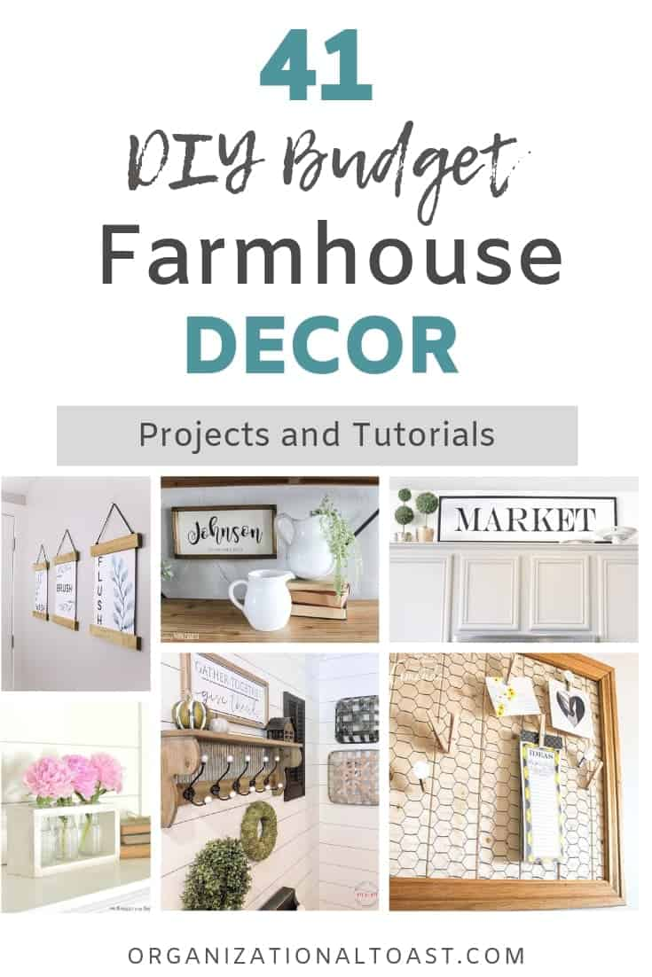 41 Diy Frugal Farmhouse Decor Projects And Tutorials Organizational Toast