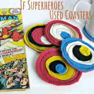 Superhero Coasters - Organized 31 #superhero