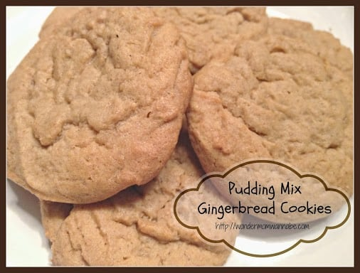 Pudding Mix Gingerbread Cookies