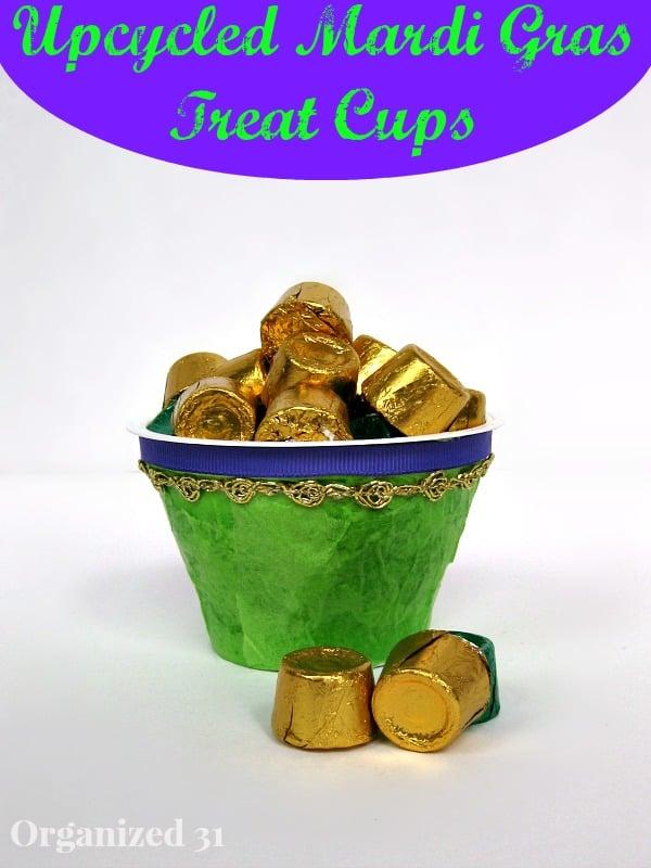 Easy Mardi Gras Treat Cups - Organized 31