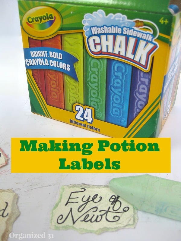 Pretend Potions from Repurposed Items and Crayola #shop - Organized 31