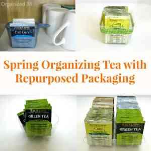 Spring Organizing Tea with Repurposed Packaging - Organized 31 #AmericasTea #shop