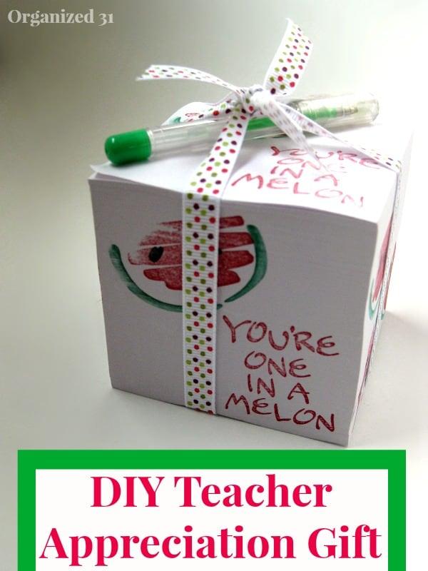 Teacher Appreciation Gift - Organized 31
