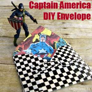 Captain America DIY Envelope - Organized 31