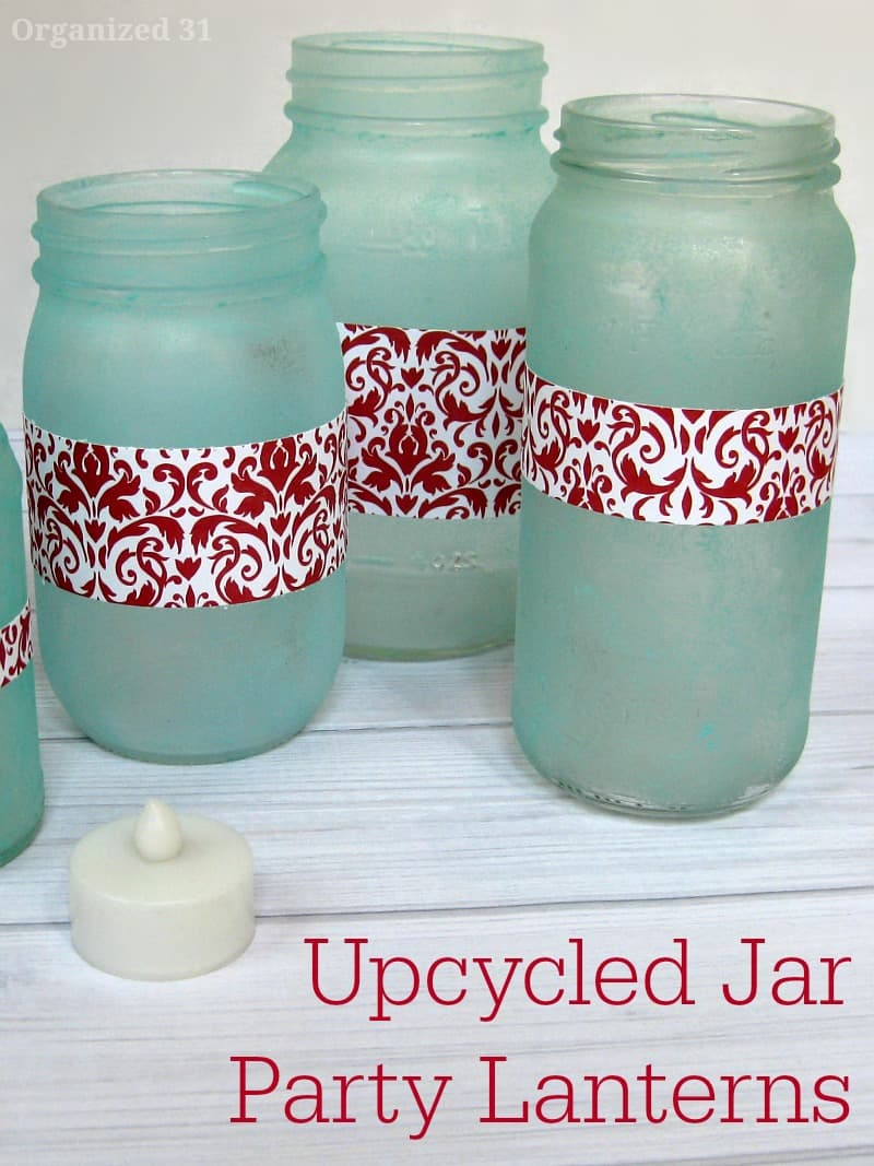 Upcycled Jar Party Lanterns - Organized 31