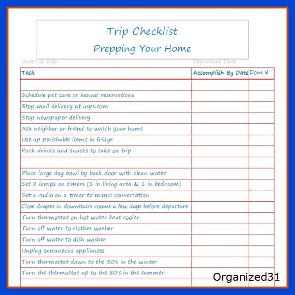summer vacation checklist - Josemulinohouse - summer vacation checklist