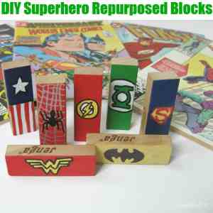 DIY Superhero Repurposed Blocks -