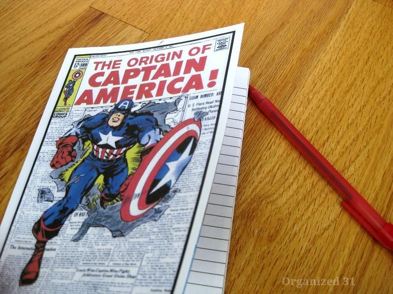 Diy Captain America Notebook - Organized 31 #captainamerica