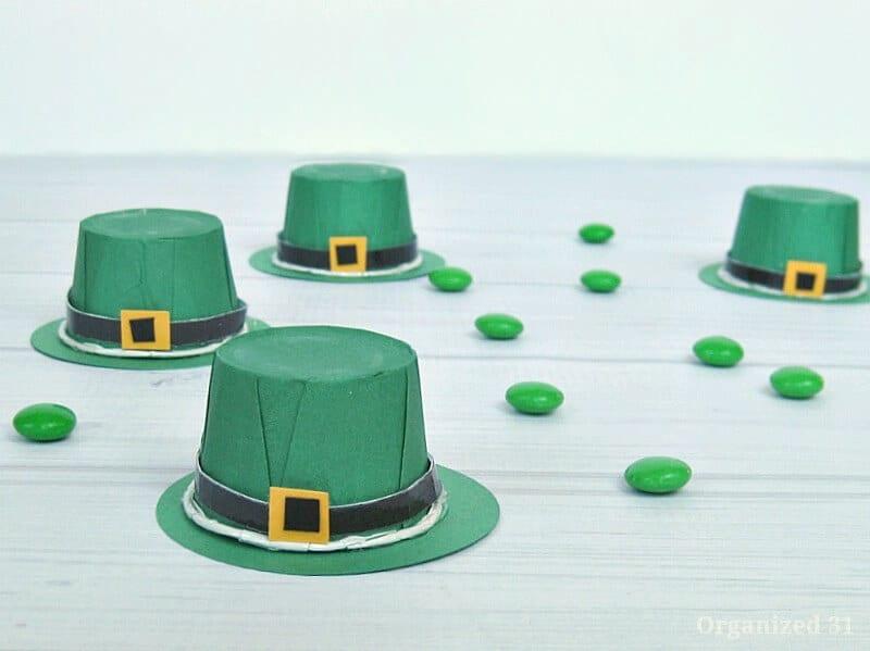 Leprechaun Hat Treat Cups - Organized 31 DIY Crafts