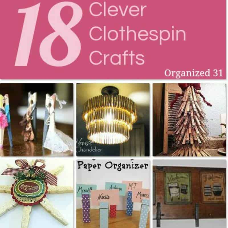 Clever Clothespin Crafts - Organized 31  #Hometalk