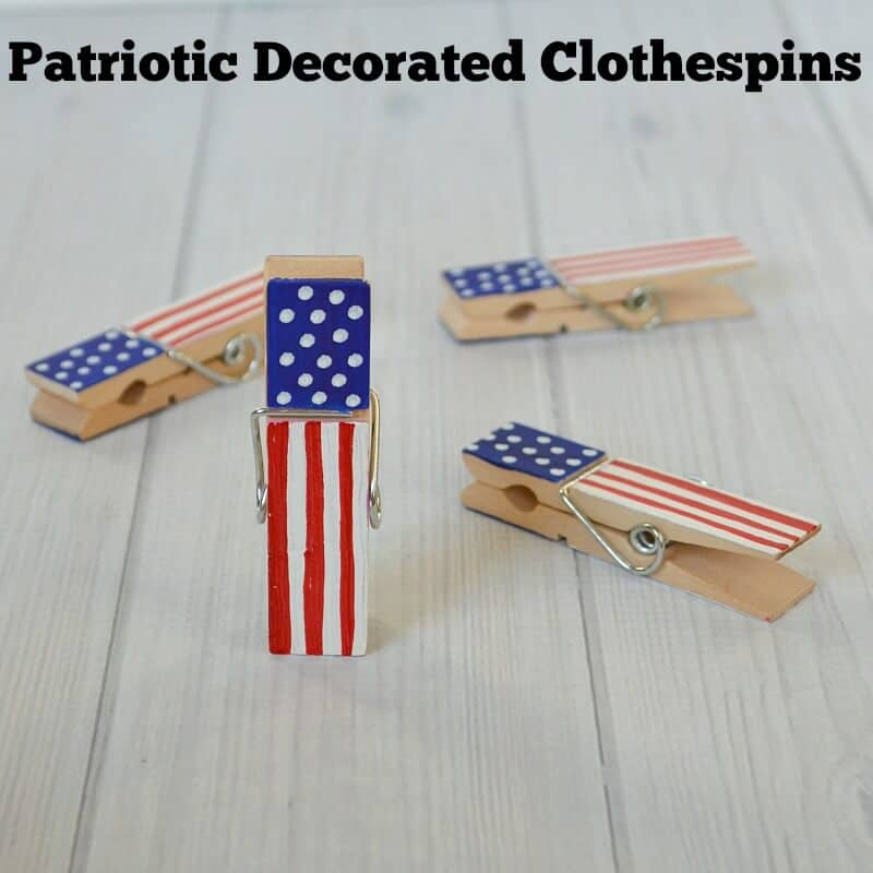 Diy patriotic clothespins organized 31 for Mini clothespin craft ideas