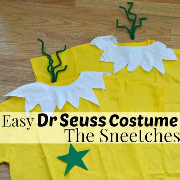 Make this easy Dr. Seuss Costume of The Sneetches in minutes. It works great as a single costume or as a couple, BFF, family or group costume.
