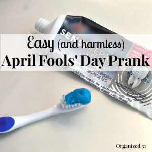 Are you looking for a last-minute easy April Fools' Day Prank Idea that is harmless? You can set this harmless prank up in minutes with items you already have at home. | Organized 31