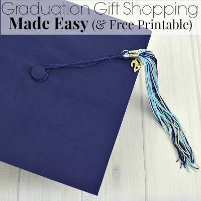 Graduation Gift Shopping Made Easy Free Printable