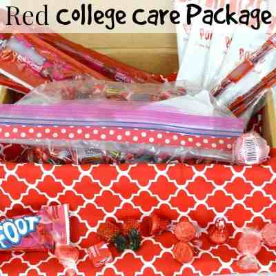 Red College Care Package Idea