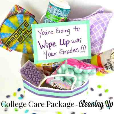 Unique College Care Package Idea – Cleaning Up