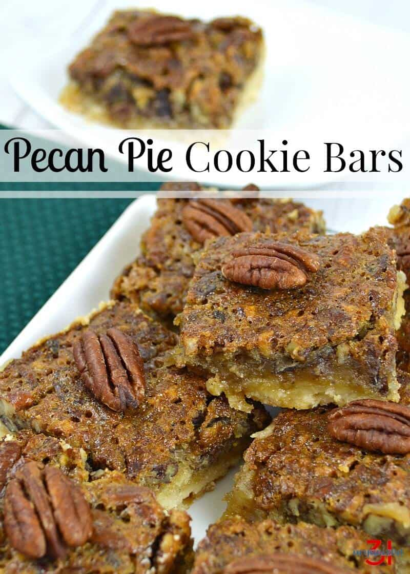 These delicious pecan pie cookie bars are perfect for entertaining.