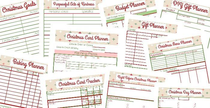 Free Christmas Planner Printables - Organized 31