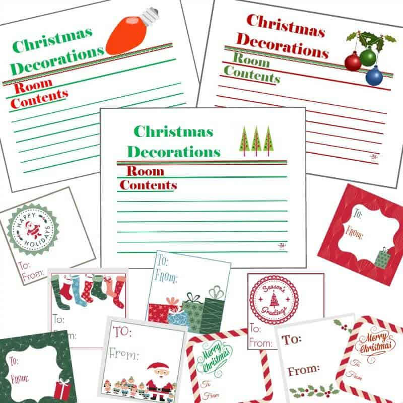 Christmas Labels  Gift Tags Set - Organized 31