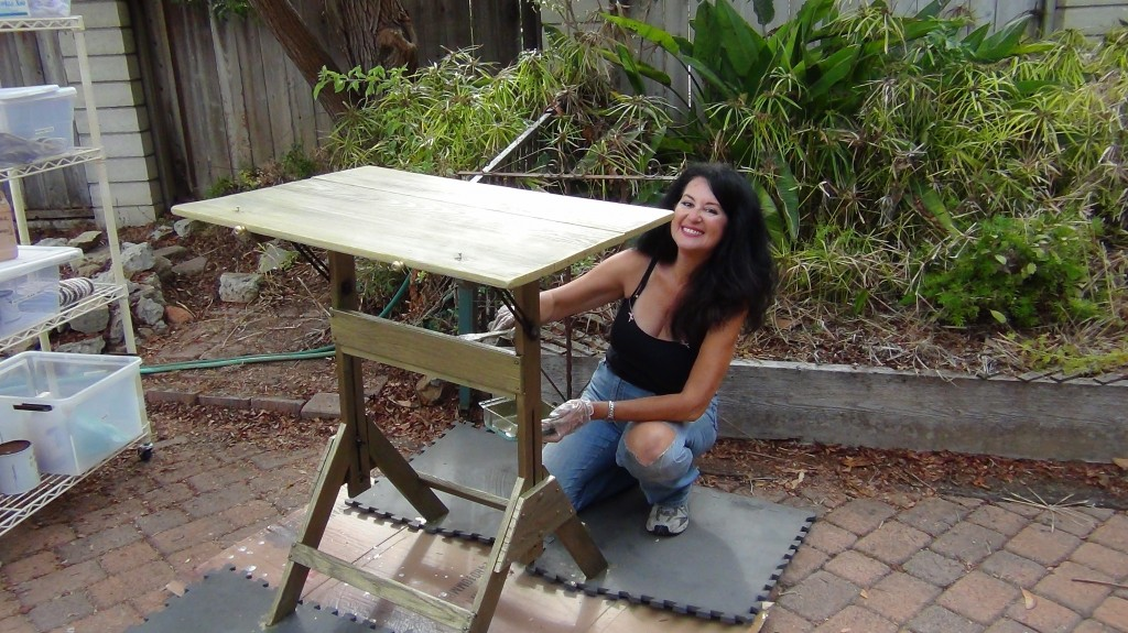drafting table wood