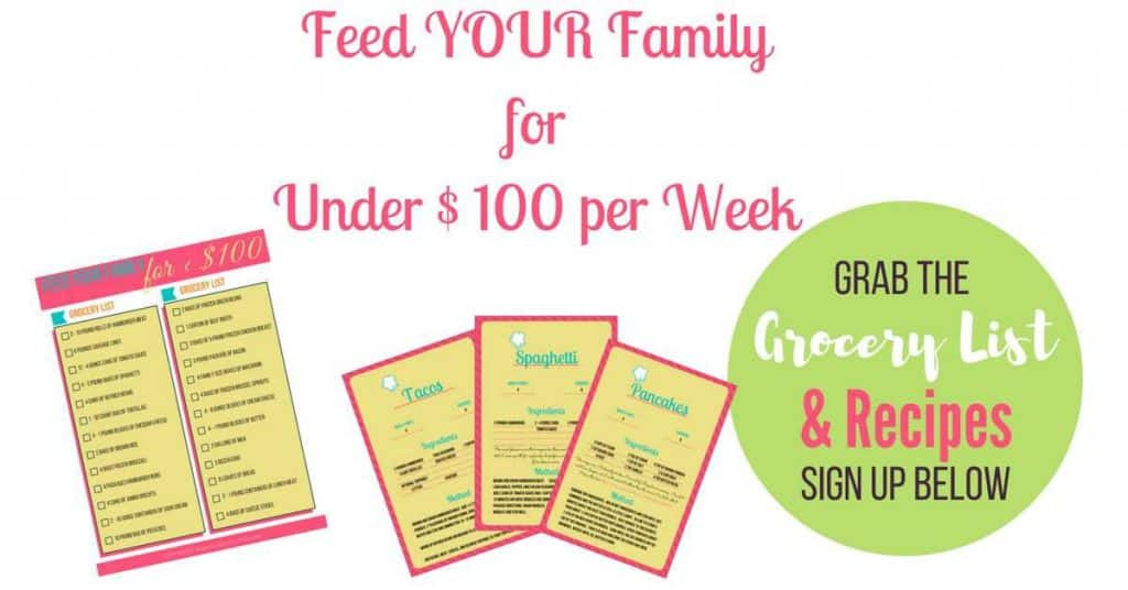 How I Feed my Family of 6 on a $100 Week Frugal Grocery Budget