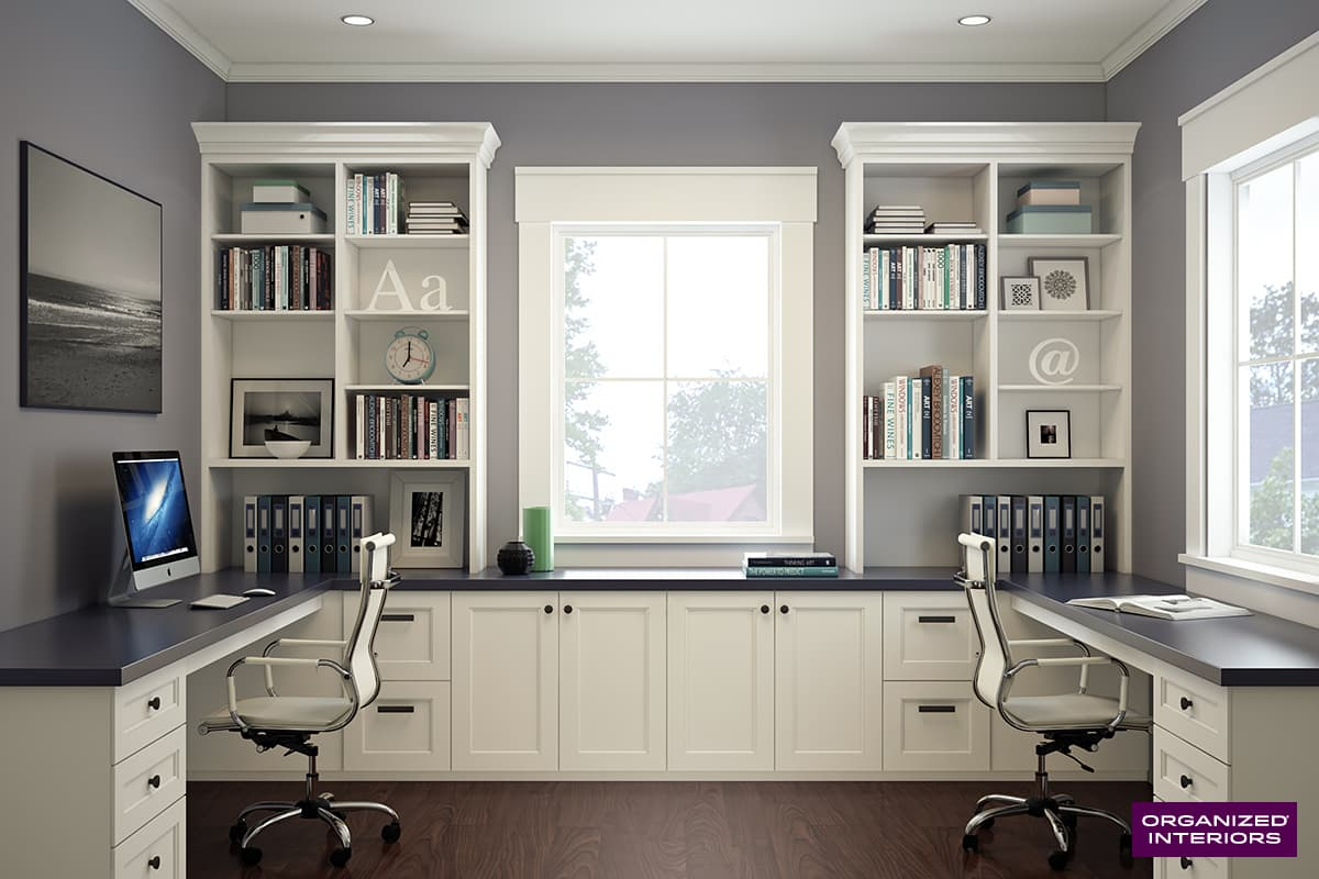 Home Office Cabinets Custom Home Office Ideas Organized Interiors