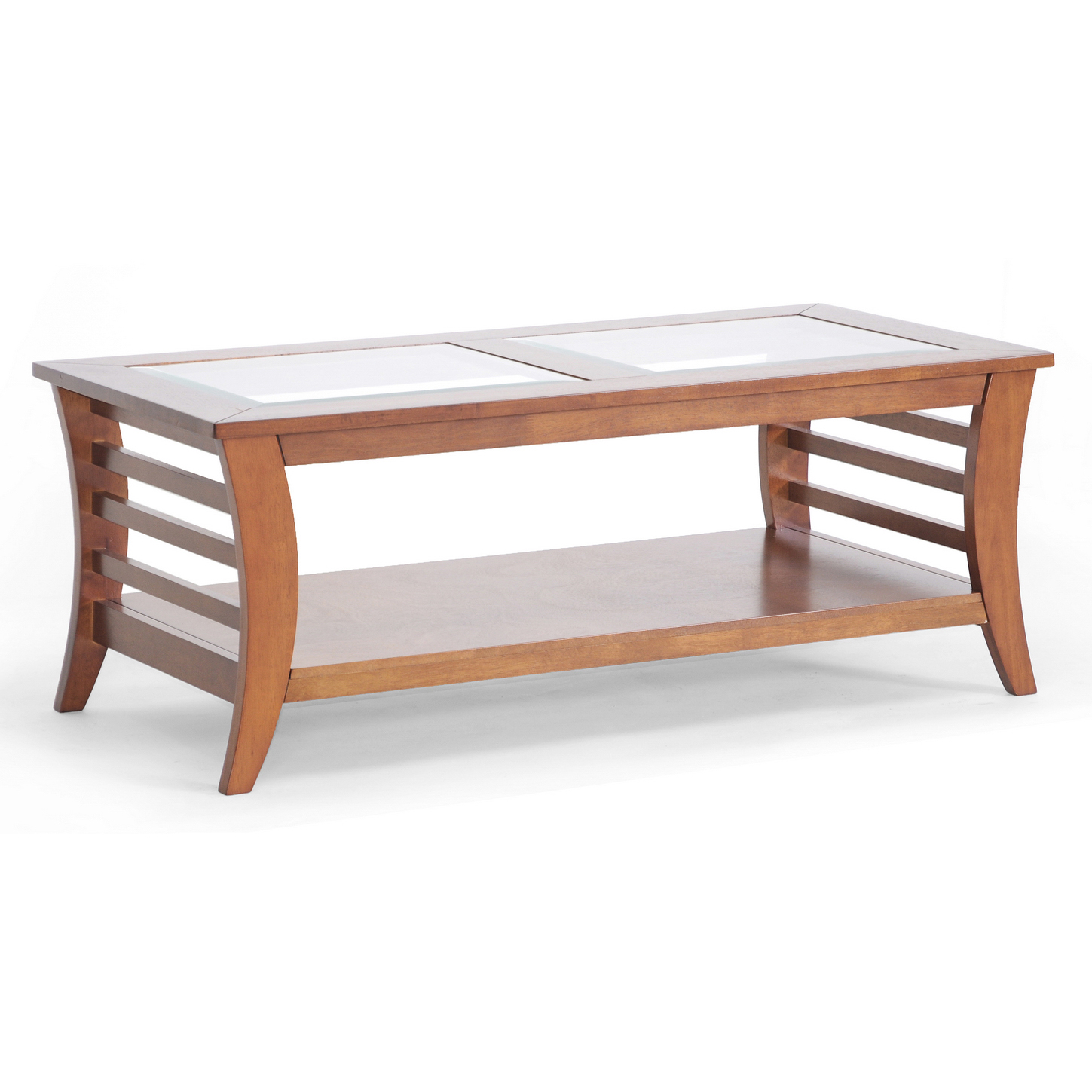Couchtisch Glaseinlage Allison Coffee Table Honey Brown In Coffee Tables