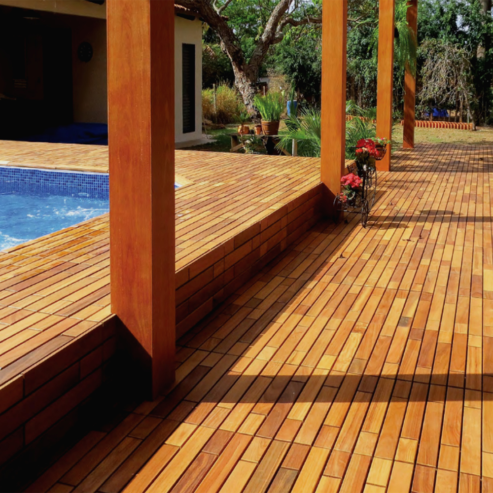Interlocking Deck Tiles Flexdeck Interlocking Deck Tiles 12 X 36 Set Of 5 In Patio
