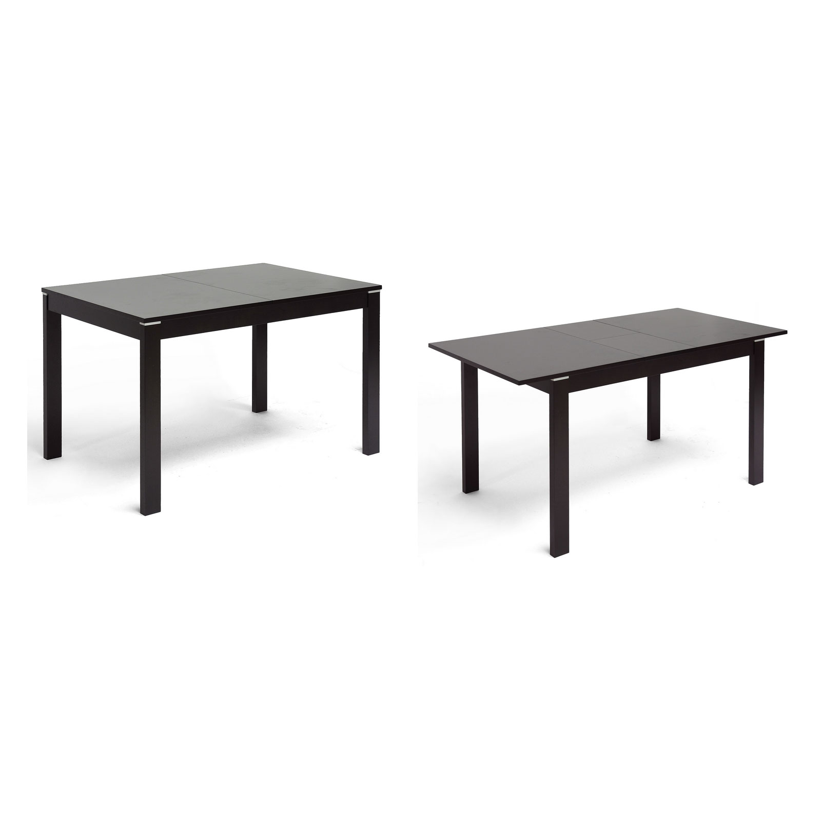 Modern Dining Table With Leaf Baxton Studio Lockerbie Modern Dining Table With Leaf